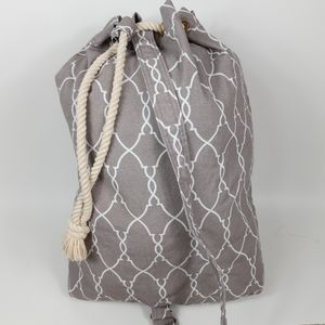 Canvas Laundry Bag With Drawstring Closure